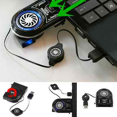 Vacuum USB Cooling Pad Cooler Fan Strong Cool Air Extract For Notebook Laptop PC