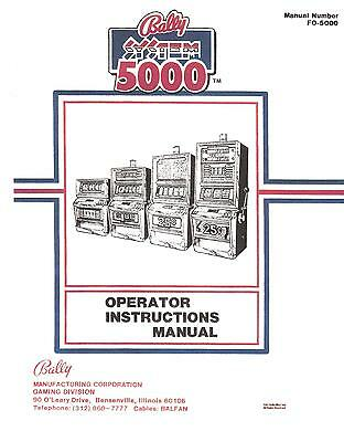 NEW PRICE BALLY SYSTEMS 5000 OPERATORS INSTRUCTIONS SLOT MACHINE MANUAL FO-5000