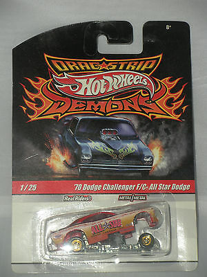 1/64 HOT WHEELS DRAG STRIP DEMONS 1970 DODGE CHALLENGER F/C ALL STAR DODGE B15-5