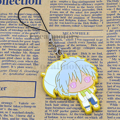 Anime DRAMAtical Murder DMMd Rubber Strap Keychain Clear Charm Pendant New 1PC