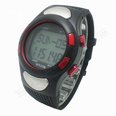 New Fitness 3D Sport Watch Pulse Heart Rate Monitor W/ Pedometer Calories Count