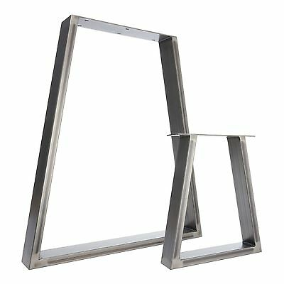 2 x Steel Table Legs / Desk Legs / Bench Legs  - Industrial Trapezium Design