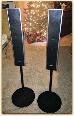 EUC PAIR Sony SS-TS82 tower Speaker System Floor Standing Excellent Left-Right