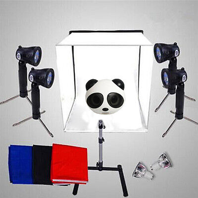 Photography Photo Video 50cm Tent Cube Softbox Light Box Lighting Backdrop Kit