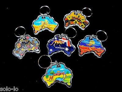 18 x  Australian Souvenir Keyring Keyrings  MAP  wholesale bulk  New