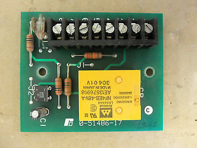 Reliance Electric Relay Input Card 0-51486-17 05148617
