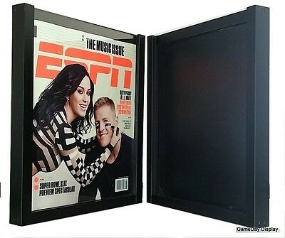 Magazine Display Frame Case Black Shadow Box ESPN Rolling Stone Lot of 2 A