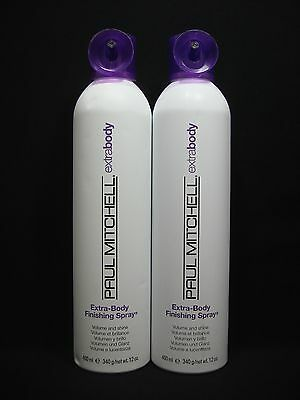 2 Bottles Paul Mitchell Extra Body Finishing Spray Volume & Shine Each 12 oz