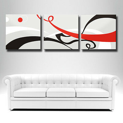 p46 Beautiful 3Panels Interesting Huge Modern Painting Combination Living Room