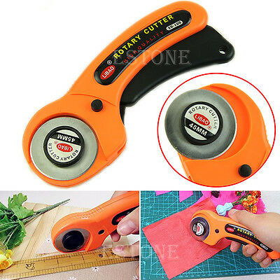 45mm Rotary Cutter Sewing Craft Quilting Fabric Leather Paper Plastic Cutting