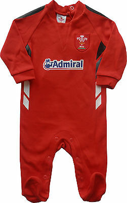 Welsh Rugby Union WRU Baby Sleepsuit Babygrow size 12-18 Months