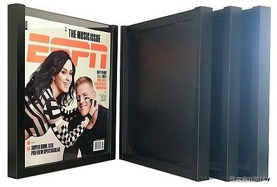 Magazine Display Frame Case Black Shadow Box ESPN Rolling Stone Lot of 4 A