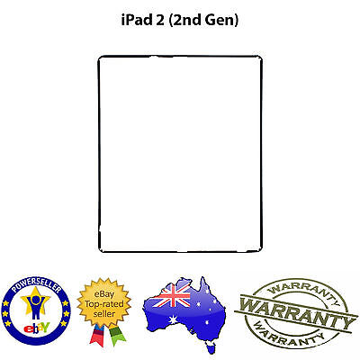 for iPad 2 - TOUCH SCREEN DIGITIZER LCD PLASTIC MID FRAME BEZEL TRIM - BLACK