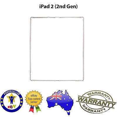 for iPad 2 - TOUCH SCREEN DIGITIZER LCD PLASTIC MID FRAME BEZEL TRIM - WHITE