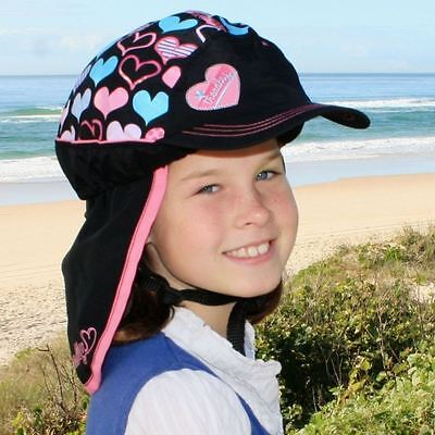 Children's Bicycle Helmet - Slip-on Sun Protection Cover - UPF50+ (Hearts)
