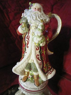 NIB Fitz &Floyd St. Nick Pitcher New in Box Mint Figurine Beautiful Santa Figure