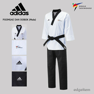 Adidas Poomsae WTF Dan Uniform (Male) Taekwondo Dobok TKD Male Tae Kwon Do