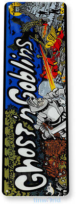 TIN SIGN Ghost n Goblins Arcade Game Room Marquee Console Metal Décor A404