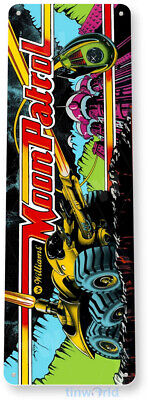 TIN SIGN Moon Patrol Arcade Shop Game Room Marquee Console Metal Décor A504