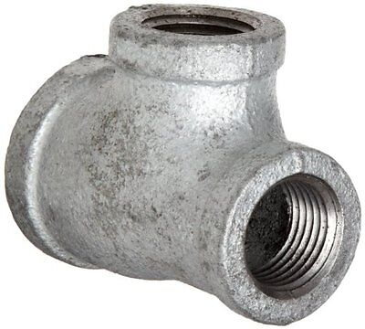 """Anvil 8700123204 Malleable Iron Pipe Fitting  Reducing Tee  1-1/4"""" x 1-1/4"""" x 3/"""