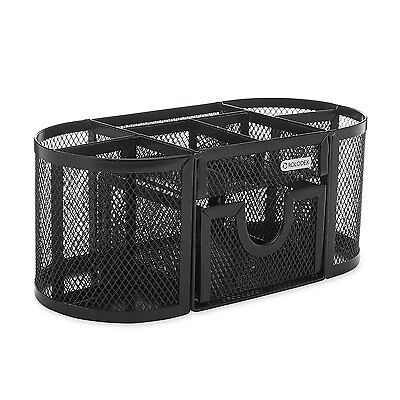 Rolodex Mesh Collection Oval Supply Caddy, Black (1746466), New, Free Shipping