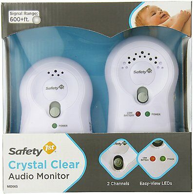 Safety 1st Crystal Clear Audio Monitor, White, New, Free Shipping