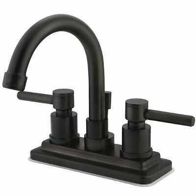 Kingston Brass KS8665DL Concord Twin Lever Handle 4-Inch Lavatory Faucet   Oil R
