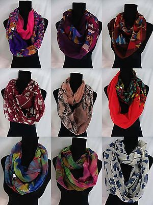 US SELLER-wholesale lot of 10 birds flowers mixed designs infinity scarf Womens