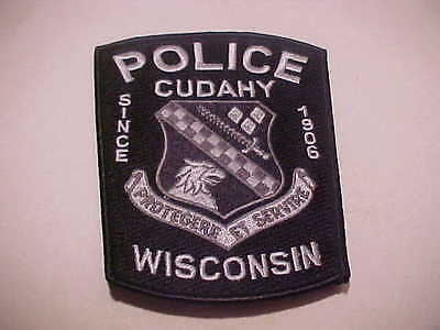 CUDAHY WISCONSIN SWAT POLICE PATCH *** FREE SHIP IN USA ***