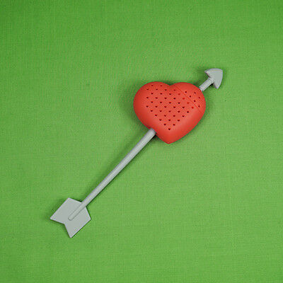 Silicone Valentine Love Heart Tea Infuser Diffuser Strainer UK Stock 3 for £5.40