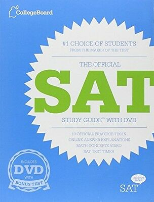 The Official SAT Study Guide with DVD, New, Free Shipping