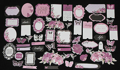 Kaisercraft 'VIOLET CRUSH' Collectables Die Cut Shapes KAISER *Deleted 1 LEFT*