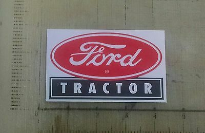 "Vintage Ford Tractor sticker decal sign 4""x2.4"""