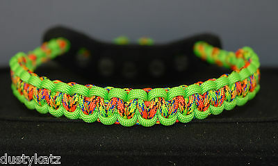 Archery bow wrist sling FREE SHIPPING Neon Green and Urban Camo Bling Sling
