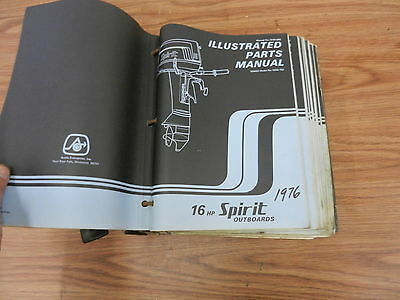 1976 16 HP Spirit outboard motor parts list manual book