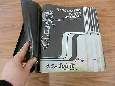 1976 4.5 HP Spirit outboard motor parts list manual book