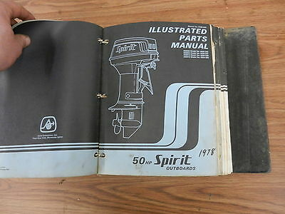 1978 50 HP Spirit outboard motor parts list manual book