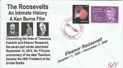 "VERY LAST Ken Burns ""The Roosevelts"" Eleanor Roosevelt 4 of 4 Cachet Cover"