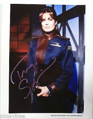 "Tracy Scoggins Autographed 8""x10"" Photo as Capt. Elizabeth Lochley - BABYLON 5"