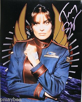 "Tracy Scoggins Autographed 8""x10"" Photo - Capt. Elizabeth Lochley - BABYLON 5"