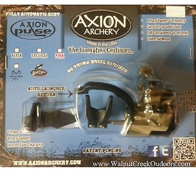 Axion Pulse 3.0 Oz Automatic Arrow Rest Lost Camo Right Hand AAA-3000LC