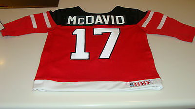 Canada 2015 World Juniors Hockey Jersey IIHF Connor McDavid Red 24 Months Infant