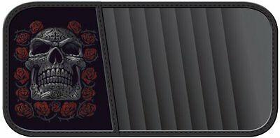 Tribal Skull Dead of the Dead Roses Car Truck SUV DVD CD Visor Organizer Holder