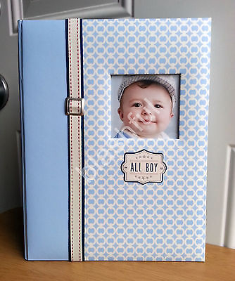 NEW CR Gibson Red White Blue All Baby Boy Memory Record Keepsake Book FREE GIFT