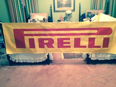 NEW PIRELLI TIRE BANNER 106 INCHES LONG 30 INCHES WIDE