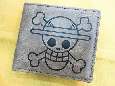 New One Piece Cosplay Monkey D Luffy Skull Leather Anime Wallet Purse (1075197)