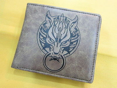 New Final Fantasy VII Wolf Logo Cosplay Anime Pu Leather Wallet Purse (1075208)