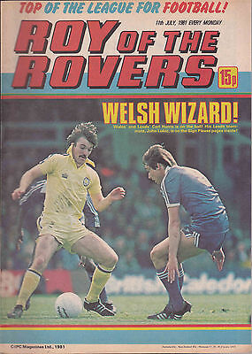 ROY OF THE ROVERS 11-07-1981 John Lukic LEEDS UNITED (Free Postage)