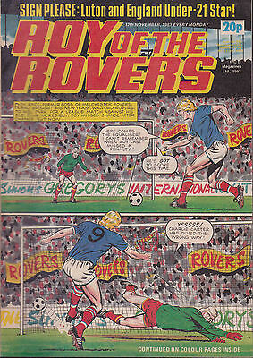 ROY OF THE ROVERS 12-11-1983 Brian Stein LUTON TOWN (Free Postage)