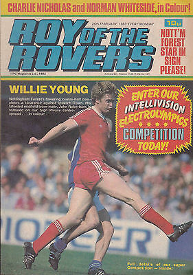 ROY OF THE ROVERS 26-02-1983 John Robertson NOTTINGHAM FOREST (Free Postage)